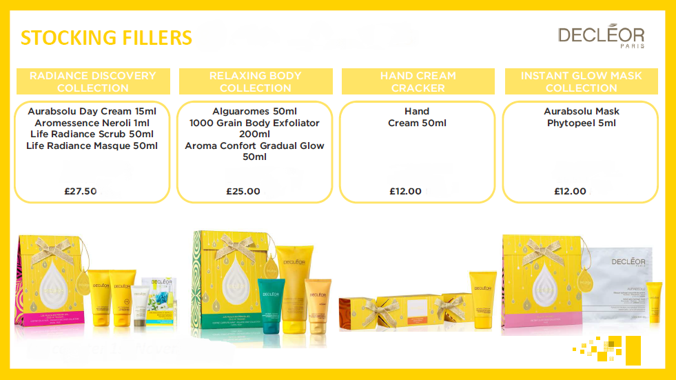 decleor christmas gifts, didcot, wantage and marlborough salons