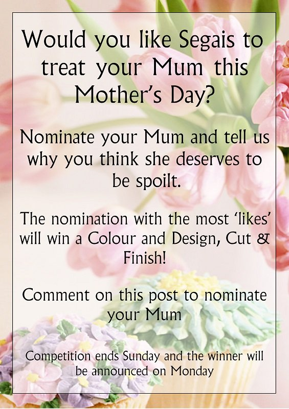 Mother's day competition, didcot, wantage and marlborough hair & beauty salons