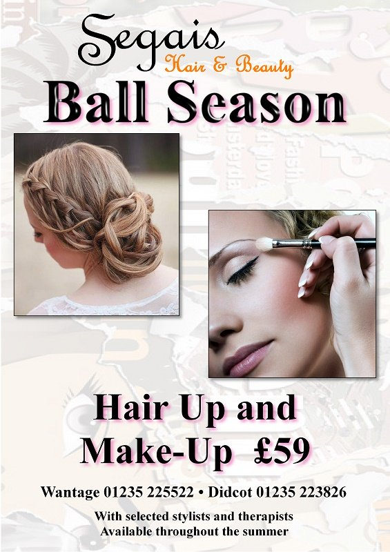 prom hair and make up, segais salon, wantage and didcot