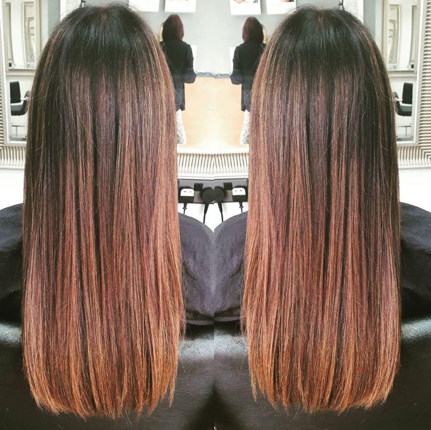 Long Hair Red Balayage Wantage