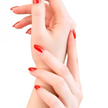 hands-red-nails